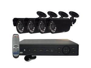 HQ-Cam® 4-Channel CCTV Security System, 960H DVR, HDMI 1080P, 4 x 600TVL IR Bullet Cameras, Hard Drive Installed