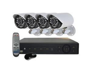 HQ-Cam® 8-Channel CCTV Security System, 960H DVR, HDMI 1080P, 4 x 700TVL 24IR Infrared Outdoor Bullet Cameras & Hard Drive ...