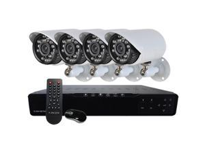 HQ-Cam Complete 4 Channel Security Surveillance Network DVR Kit with 4 Infrared Outdoor 600 TVL Bullet Cameras & 500GB Hard ...