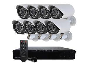 HQ-Cam® 16-Channel CCTV Security System, 960H DVR, HDMI 1080P, 8 x 600TVL 24IR Infrared Outdoor Bullet Cameras, 1TB Hard ...