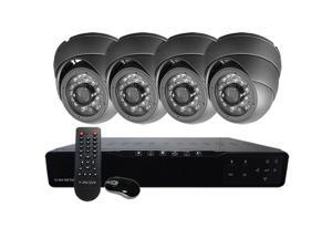 HQ-Cam® 4-Channel CCTV Security System, Network 960H DVR HDMI 1080P, 4 x 700TVL 24IR Infrared Outdoor Dome Cameras (Dark ...