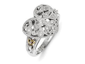 Sterling Silver 0.06ct 14k Yellow Gold-Plated Yellow Gold-Plated 1 #47;20ct Diamond Vintage Ring  #4
