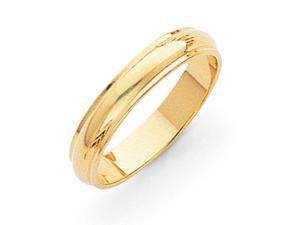 14k Yellow Gold 4mm Half-Round Edge Band