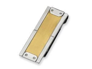 Stainless Steel 24k Gold-plating Money Clip. Metal Weight- 20.45g. Money Clip.