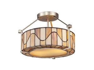 Dale Tiffany Sandfield Semi Flush Mount - TH12416