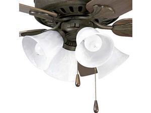 Progress Lighting Alabaster Glass Four-Light Fan Light Kit - P2616-46