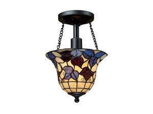 Elk Lighting Semi Flush in Tiffany Bronze - 70091-1