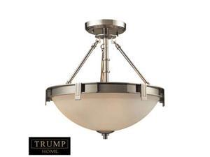 Elk Lighting Tribeca 3 Light Semi-Flush in Polished Nickel - 1623-3