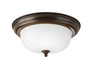 Progress 2-Light Close-To-Ceiling Fixture. in Brushed Nickel - P3925-09EB