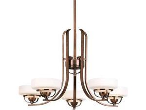 Progress Savannah 2-Light Close-To-Ceiling Antique Glass in Chestnut - P3497-86