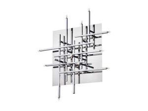 Dainolite 16 Light Flush Mount Fixture, Polished Chrome - CG8616FH-PC