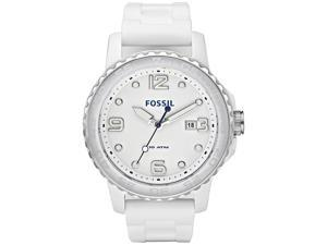 Fossil Ceramic Silicone Strap White Dial Men's watch #CE5002