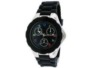 FMD Jellybean Carousel Black Rubber Womens Watch ZRT21000