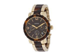 Fossil Chronograph Natalie Two Tone Tortoise Womens Watch JR1382