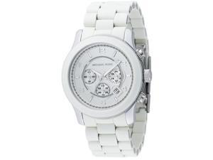 Michael Kors Chronograph White Rubber Mens Watch MK8108