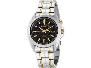 Seiko Kinetic Black Dial Men's Watch #SMY115