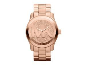 Michael Kors Runway Logo Rose Gold Tone Womens Watch MK5661
