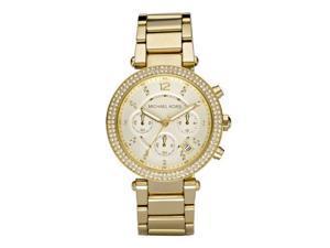Michael Kors Parker Glitz Chronograph Gold Tone Womens Watch MK5354