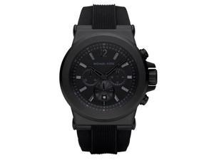 Michael Kors Men's Chronograph Black Dial Black Rubber