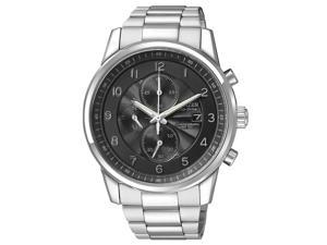 Citizen Eco-Drive Chronograph Black Dial Stainless Steel Mens Watch CA0330-59E
