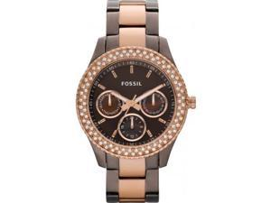 Fossil Women's ES2955 Brown Stainless-Steel Quartz Watch with Brown Dial