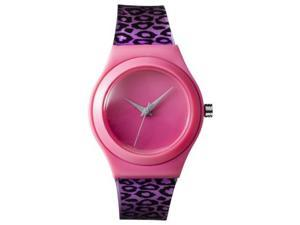 FMD Black And Pink Cheeta Plastic Womens Watch FMDX211