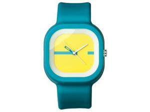 FMD Turqoise Square Rubber Unisex Watch FMDX234