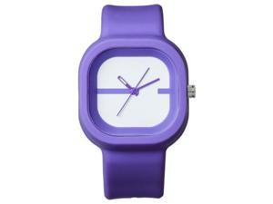 FMD  Purple Square Rubber Unisex Watch FMDX237