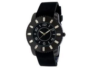 FMD Black Rubber Crystal Accented Womens Watch ZRT21011