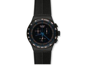 Swatch Irony Chronograph Blue In Dark Men's Watch YOB103