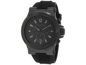 Michael Kors Dylan Black Silicone Strap Mens Watch MK8152
