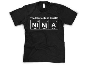 Element of Stealth (Ni-Nj-A) T-Shirt Funny Ninja Science Shirt L