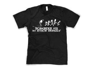 Zombies Ate my Stick Family T Shirt Funny zombie T-Shirt