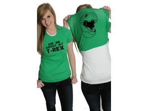 Women's Ask Me About My T-Rex T Shirt Funny Flip Up Trex Shirts For Women XL