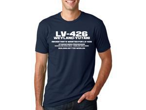 Lv-426 Inhabitants Wanted T Shirt Classic Aliens Cool Shirt L
