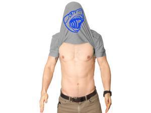 Flipover Ask Me Why I'm Jawsome T Shirt Funny Flip-Up Shark Shirt L