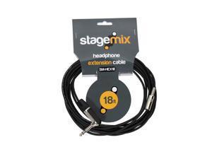 "Elite Core EC-HEX18 Standard 18' Headphone Extension Cable 1/4"" TRS R/A - 3.5MM Female"