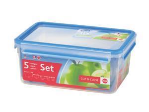 Emsa 3D Clip & Close 5 Piece Storage Container Set
