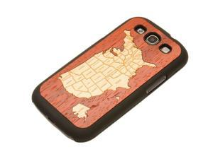 CARVED - USA Map Wood Galaxy S3 Matte Black Case