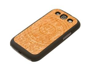 CARVED - Aztec Calendar Engraved Cherry Galaxy S3 Matte Black Case