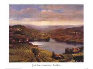 Vineyard View I Poster Print by Jennie Tomao (31 x 26)