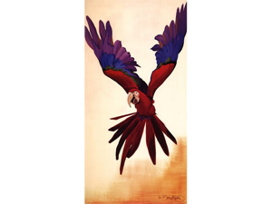 Parrot Poster Print by David Bromstad (18 x 36)