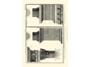 Small Cornice Tempio di Vesta Poster Print by Francesco Piranesi (19 x 13)