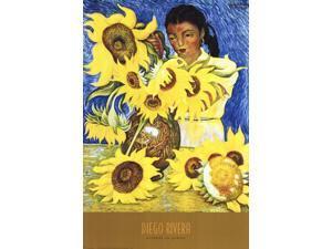 Muchacha con Girasoles Poster Print by Diego Rivera (24 x 36)