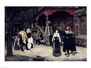 The Meeting of Faust and Marguerite, 1860 Print by James Jacques Joseph Tissot