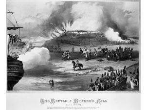 Bunker Hill 1775 Nthe British Attack On Bunker Hill Boston Massachusetts 17 June 1775 Lithograph Ame