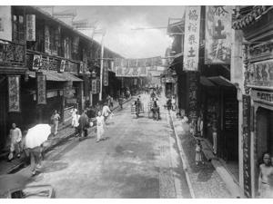 China Shanghai C1910 Na Street In The Native Quarter Of Shanghai China Photograph C1910 Poster Print by  (18 x 24)