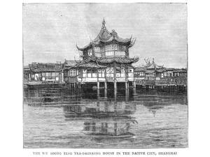 Shanghai Bund 1883 Na View Of The English Settlement Along The Bund In Shanghai China Looking Toward The Hong Kong And Shanghai Bank And Showing The English Club (Extreme Left) And The Headquarters Of