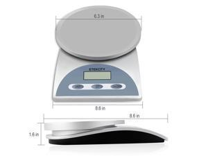 Etekcity® 0.05oz High Accuracy 11lb/5kg Digital Multifunction Kitchen Food Scale&#59; High Precision Strain Gauge Sensor&#59; Auto-off, Zero/tare Functions&#59; FCC/CE/RoHS approved