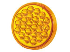 "4"" Amber Regular Grommet Mount Strobe Dump Truck Light"